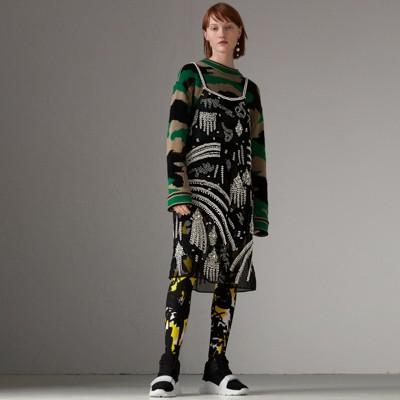 Crystal-embellished Slip Dress