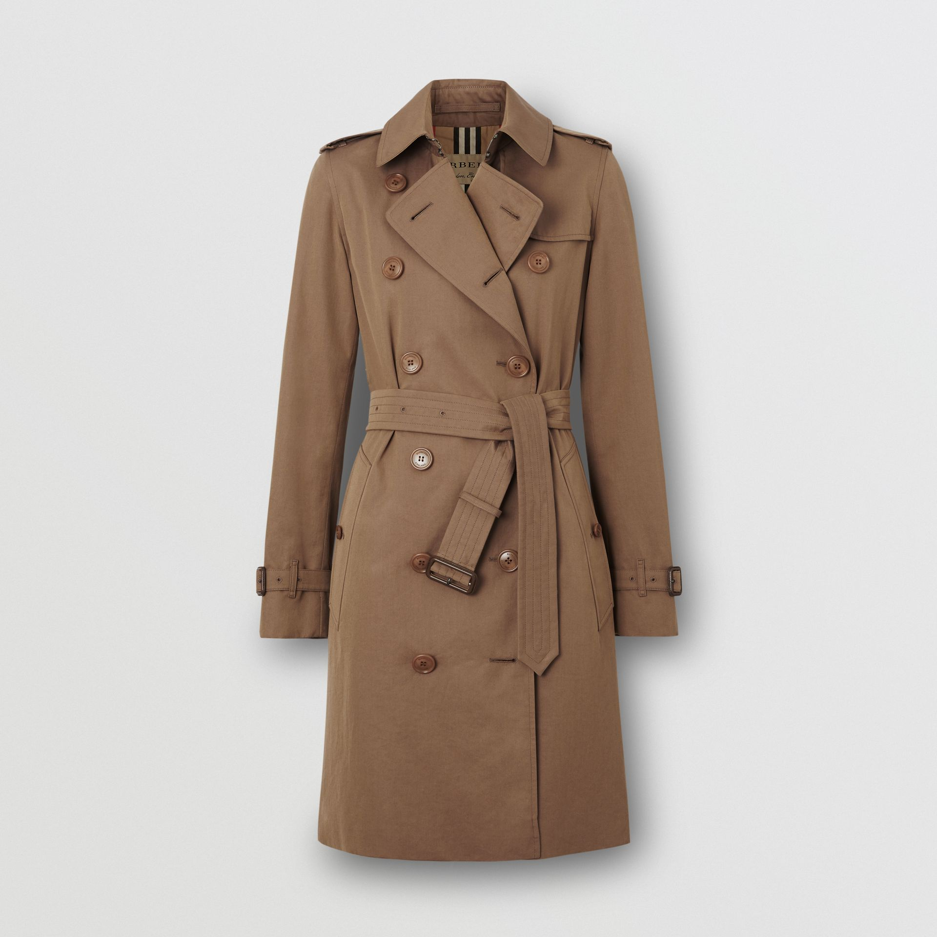 Tropical Gabardine Trench Coat in Taupe - Women | Burberry United Kingdom - gallery image 3