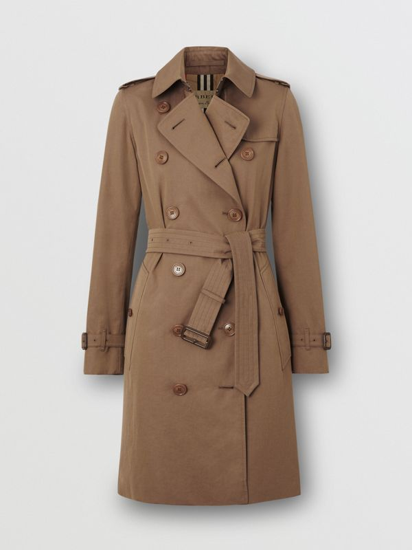 Tropical Gabardine Trench Coat in Taupe - Women | Burberry United Kingdom - cell image 3