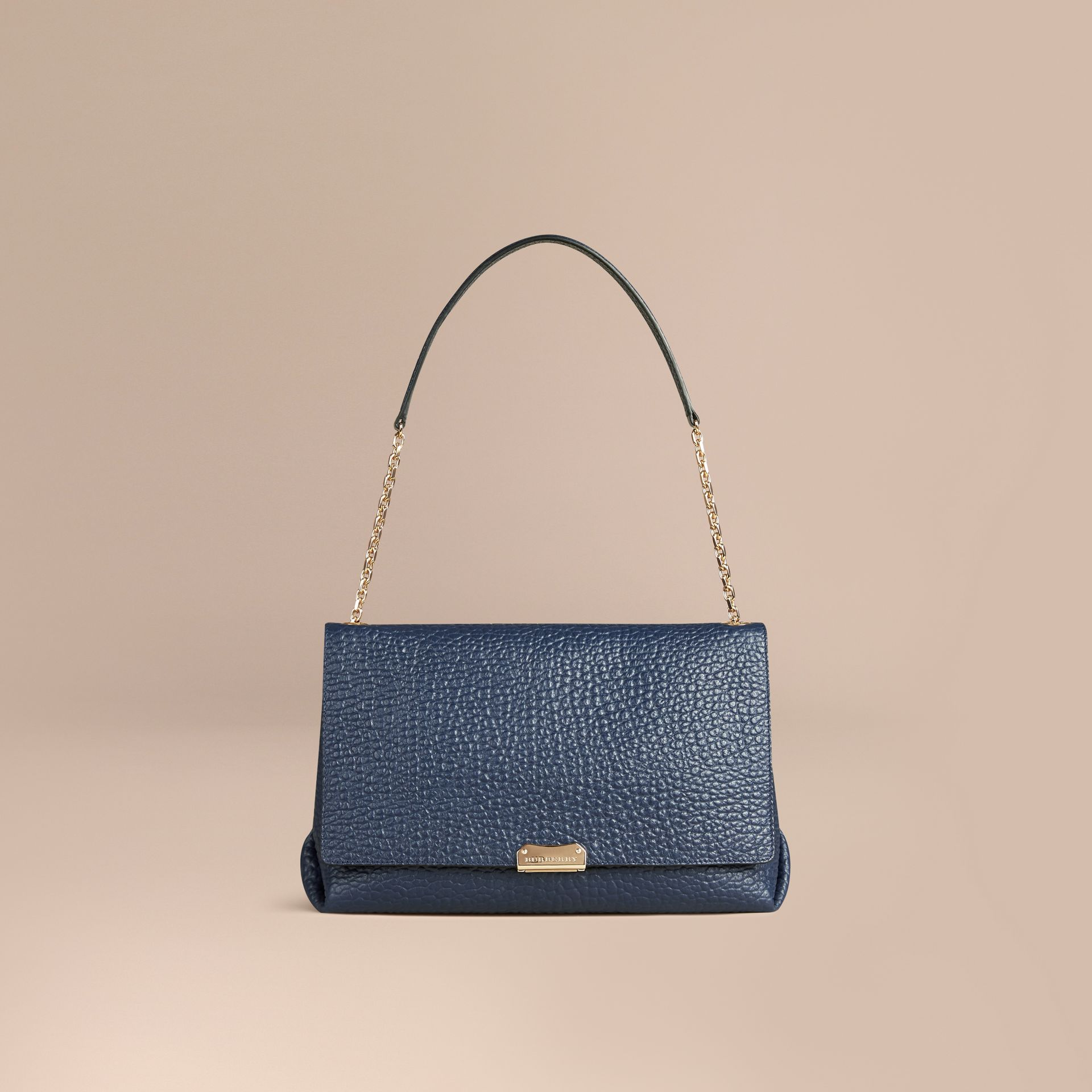 Blue carbon Large Signature Grain Leather Shoulder Bag Blue Carbon - gallery image 7