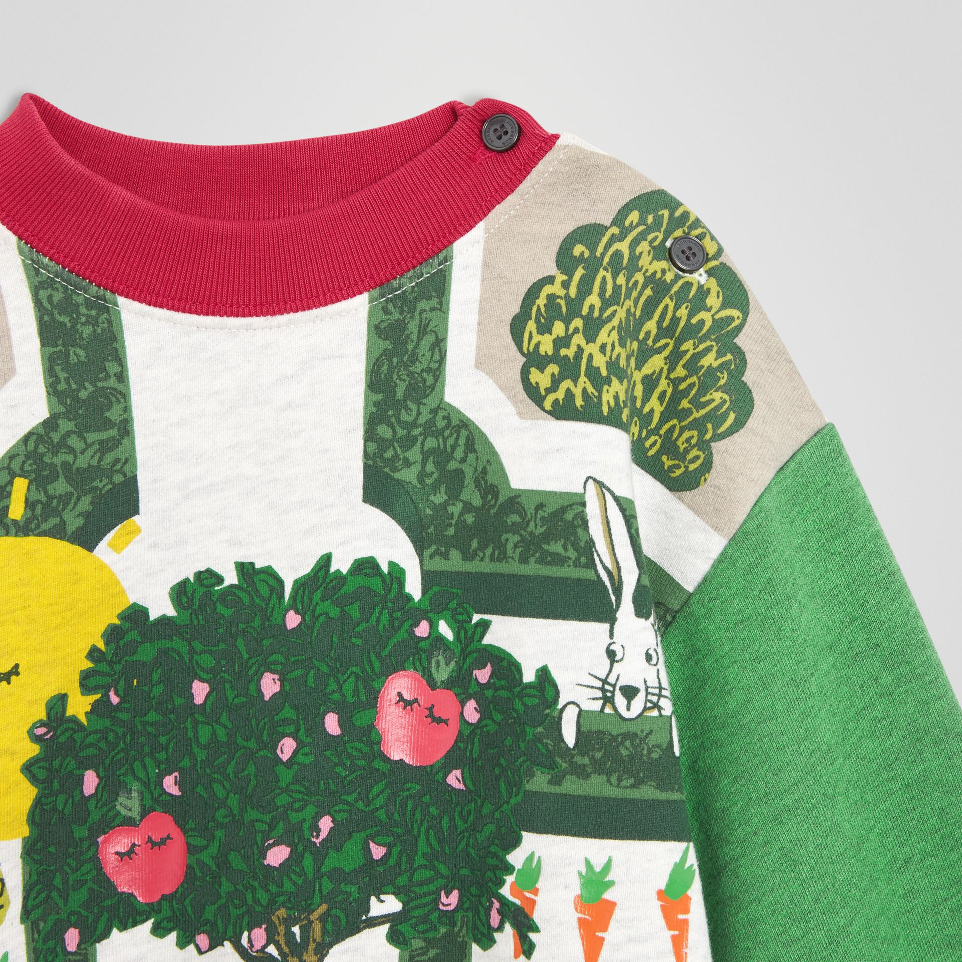 Hedge Maze Print Cotton Dress in Multicolour - Children | Burberry Australia - gallery image 4