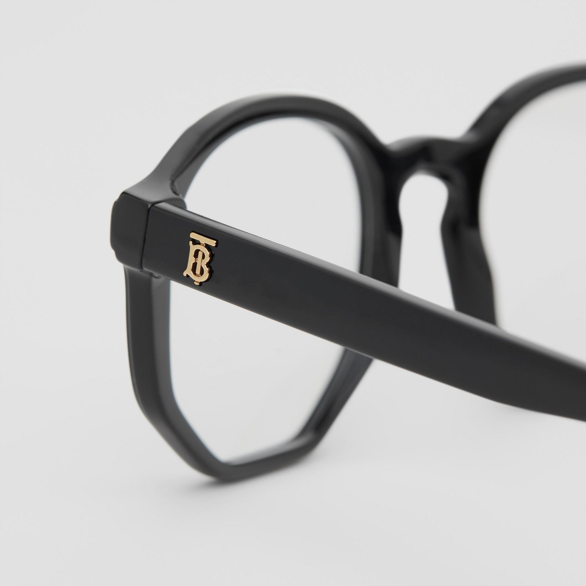 Geometric Optical Frames in Black - Women | Burberry Australia - gallery image 1
