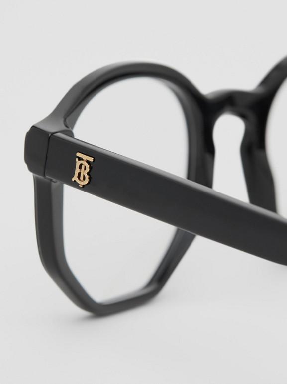 Geometric Optical Frames in Black - Women | Burberry United Kingdom - cell image 1