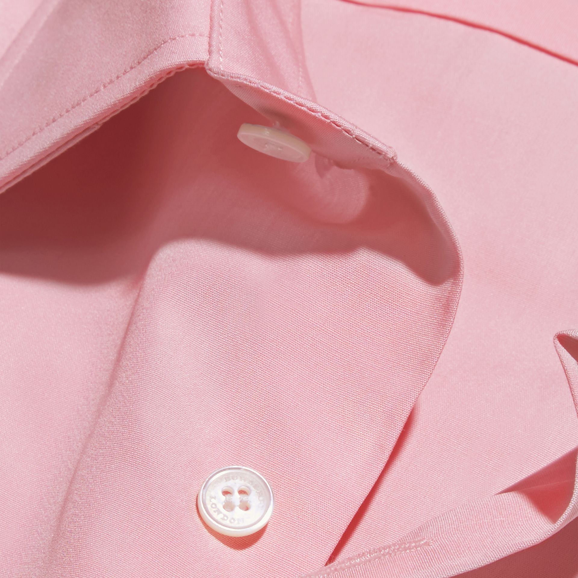 Slim Fit Cotton Poplin Shirt in City Pink - gallery image 2