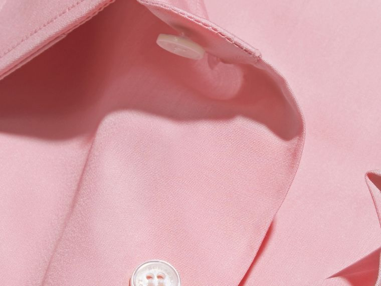 Slim Fit Cotton Poplin Shirt in City Pink - cell image 1