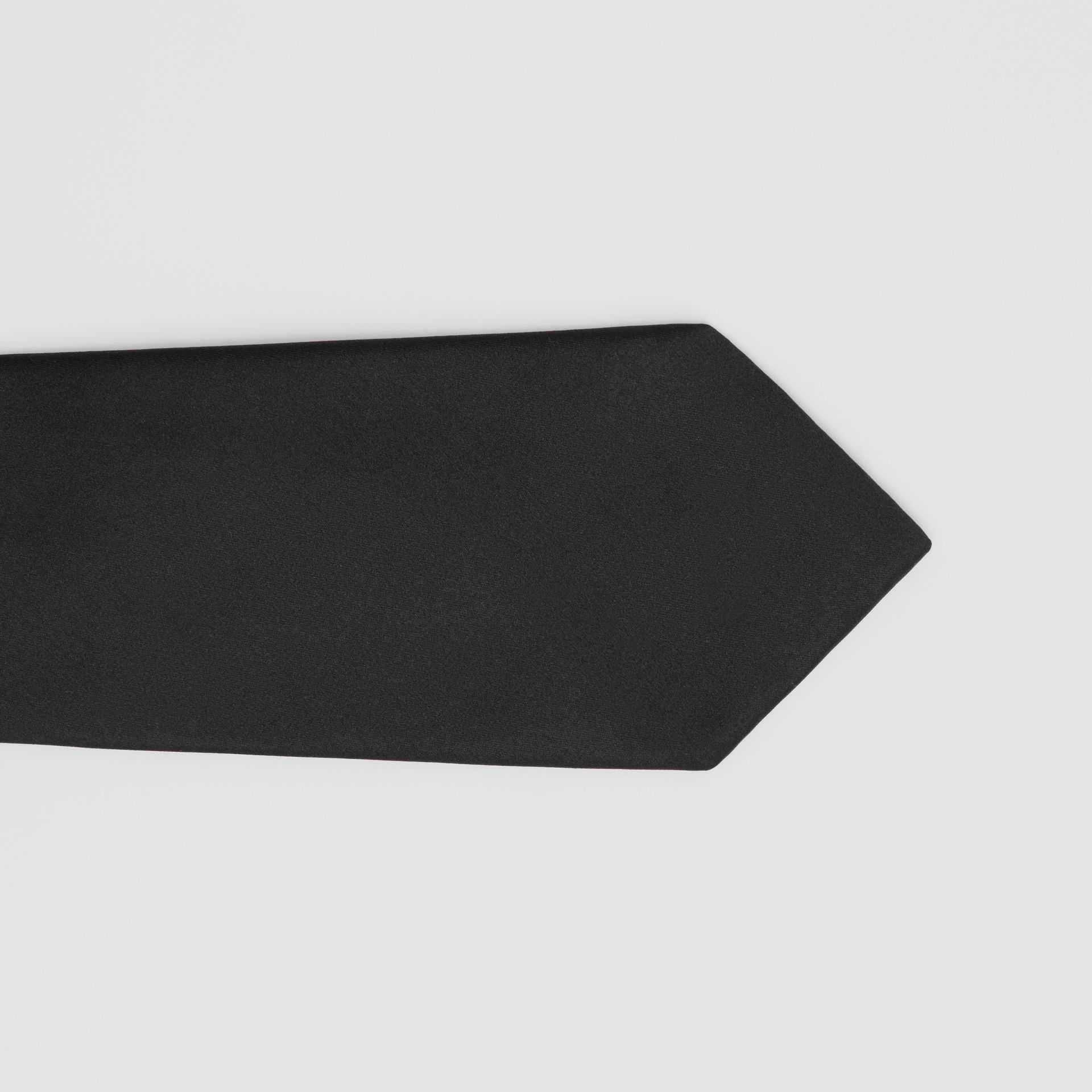 Classic Cut Silk Tie in Black | Burberry United States - gallery image 1