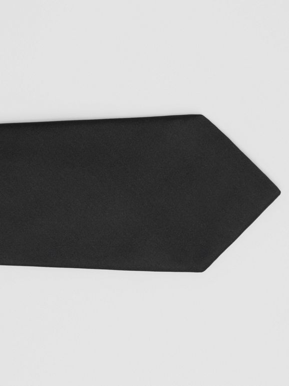 Classic Cut Silk Tie in Black | Burberry United States - cell image 1