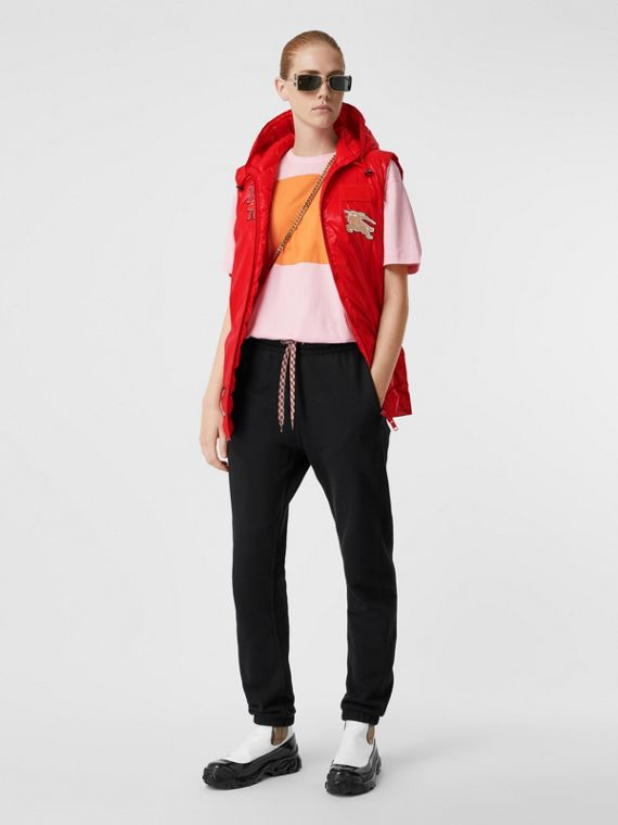 Logo Graphic Puffer Gilet in Bright Red