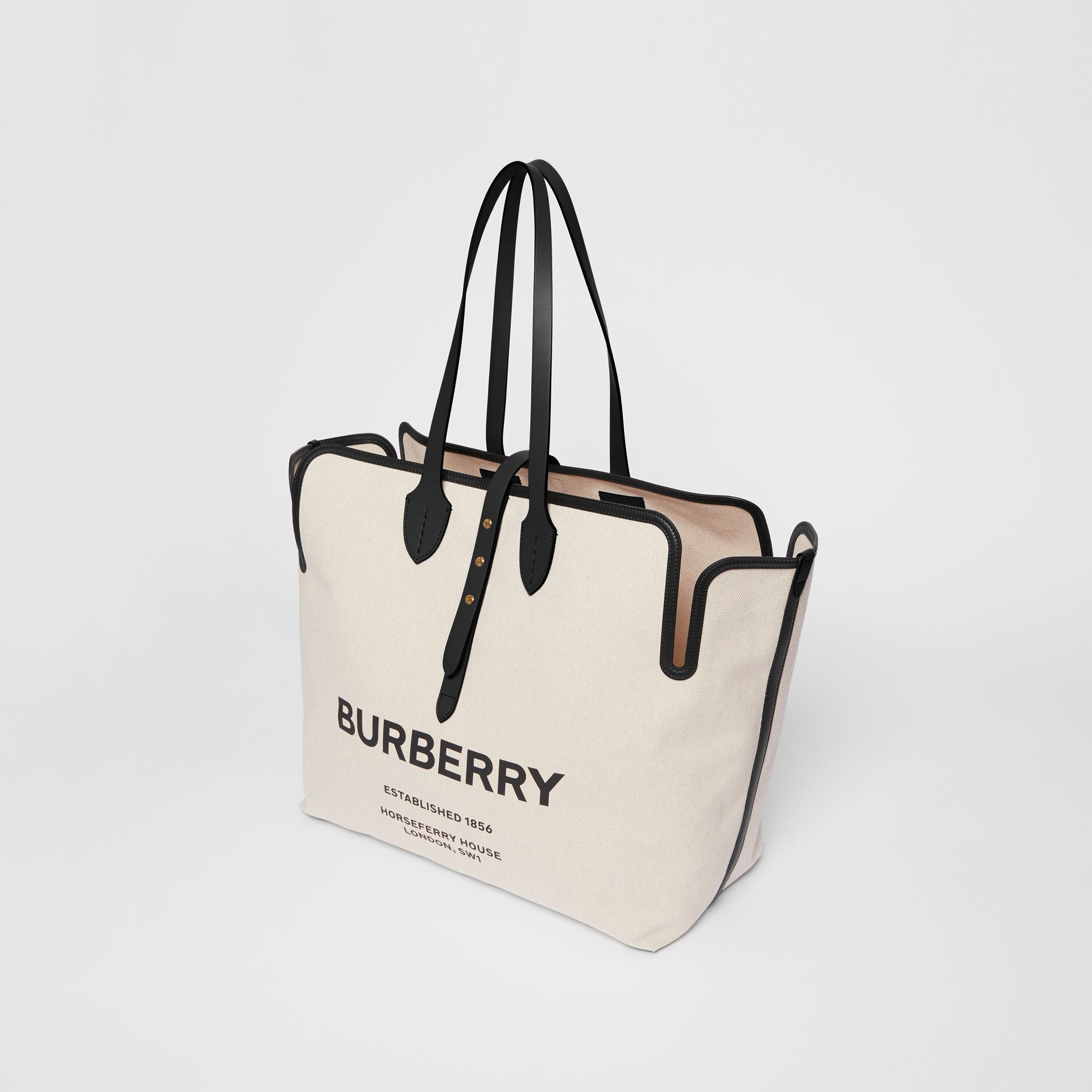 The Medium Soft Cotton Canvas Belt Bag in Black - Women | Burberry Singapore - gallery image 2