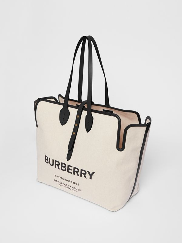 The Medium Soft Cotton Canvas Belt Bag in Black - Women | Burberry Singapore - cell image 2