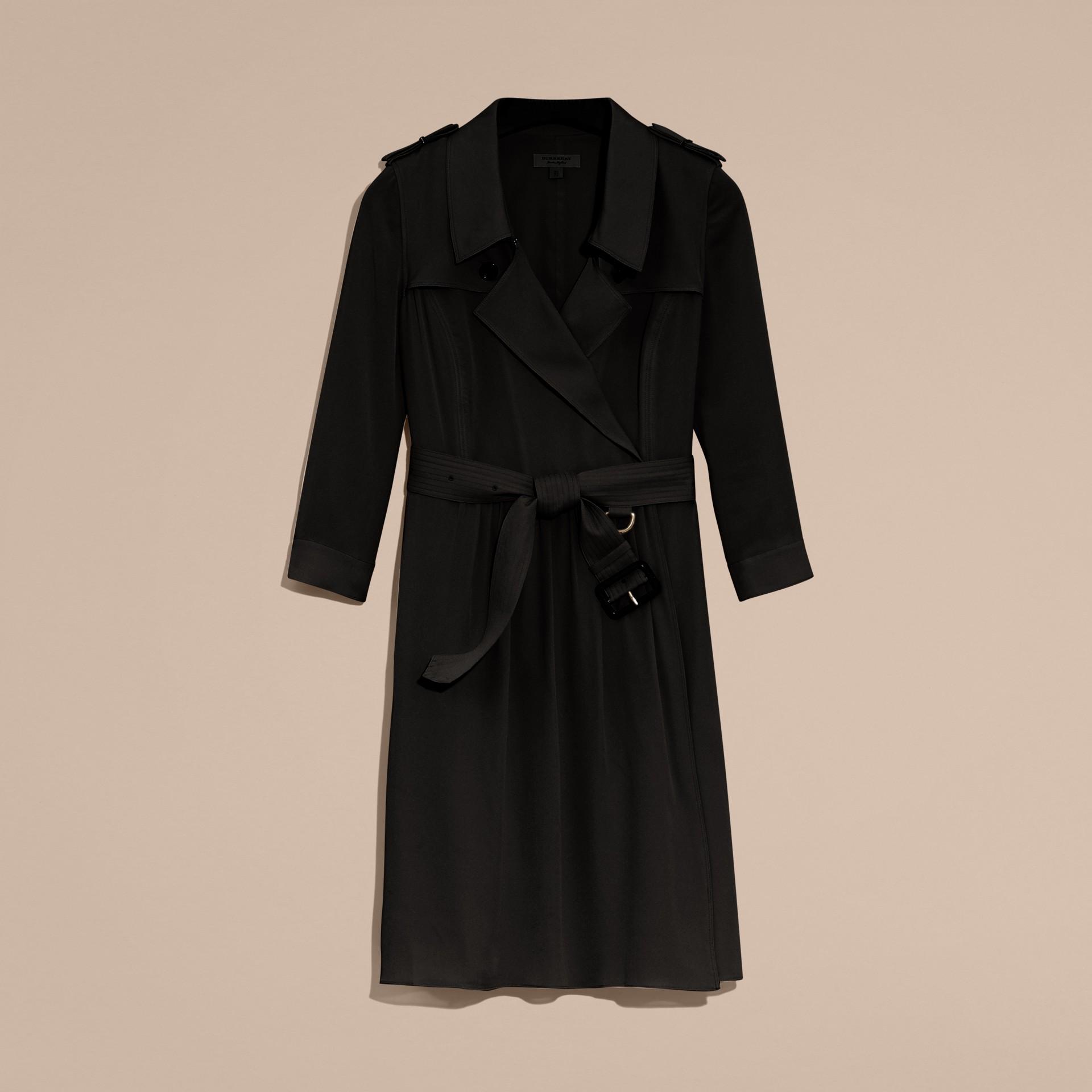 Trenchkleid aus Seide (Schwarz) - Damen | Burberry - Galerie-Bild 4