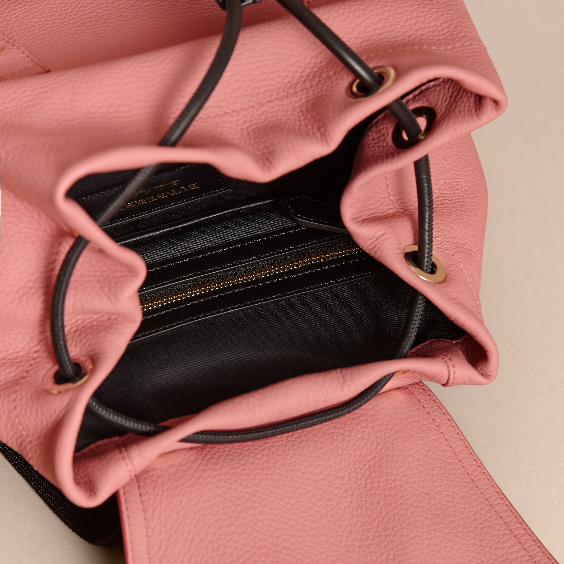 The Medium Rucksack in Deerskin with Resin Chain in Blossom Pink - Women | Burberry - gallery image 5