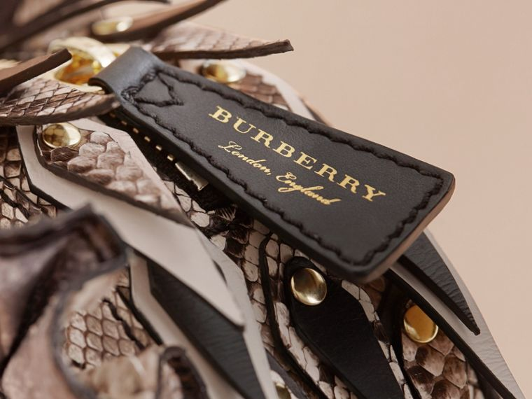 Leather and Snakeskin Pallas Helmet Shoulder Bag - Women | Burberry - cell image 4