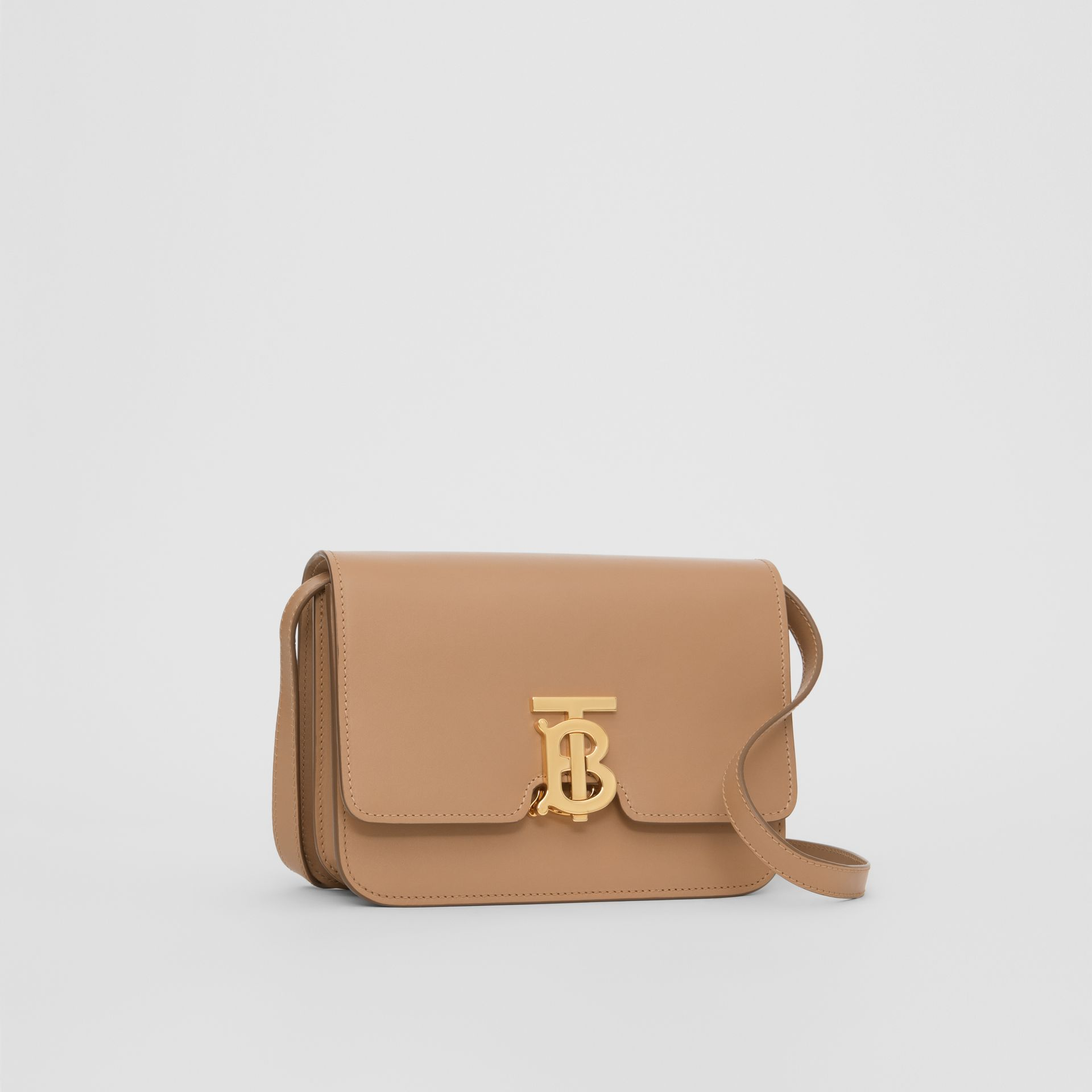 Small Leather TB Bag in Light Camel - Women | Burberry - gallery image 4