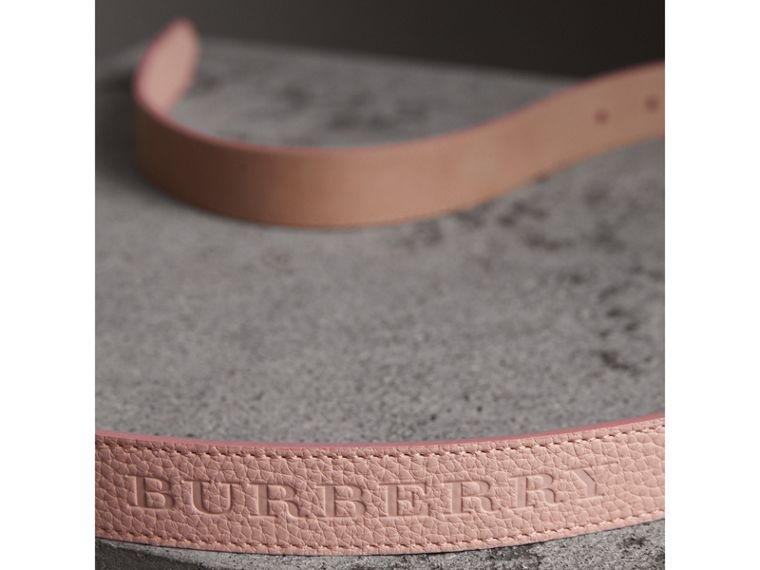 Embossed Leather Belt in Pale Ash Rose - Women | Burberry Hong Kong - cell image 1