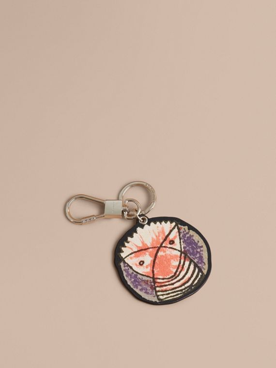 Pallas Heads Print Leather Key Ring - Men | Burberry Singapore