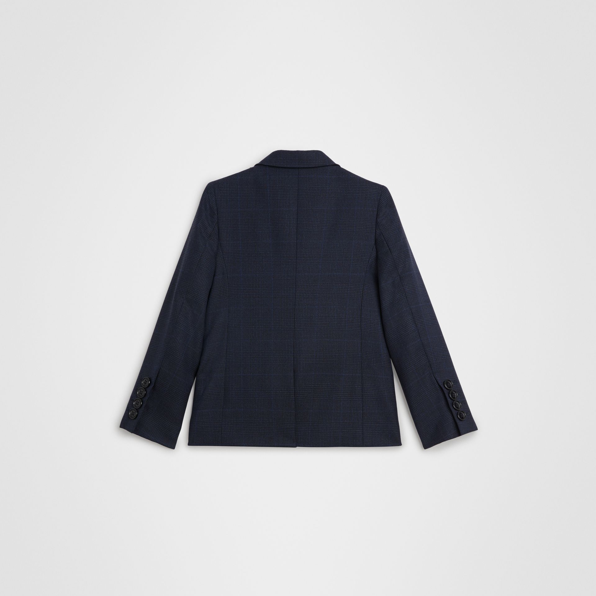 Prince of Wales Check Wool Blazer in Bright Navy | Burberry United Kingdom - gallery image 3