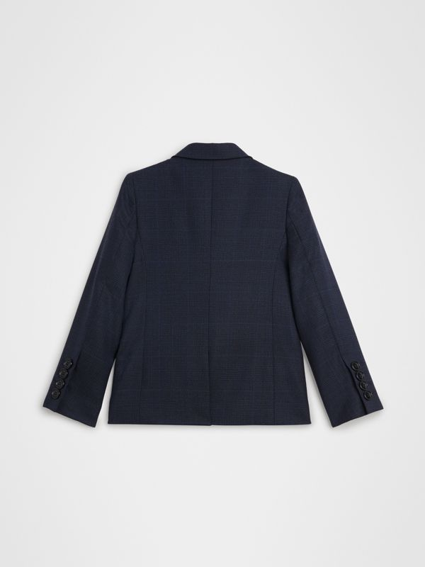 Prince of Wales Check Wool Blazer in Bright Navy | Burberry United Kingdom - cell image 3