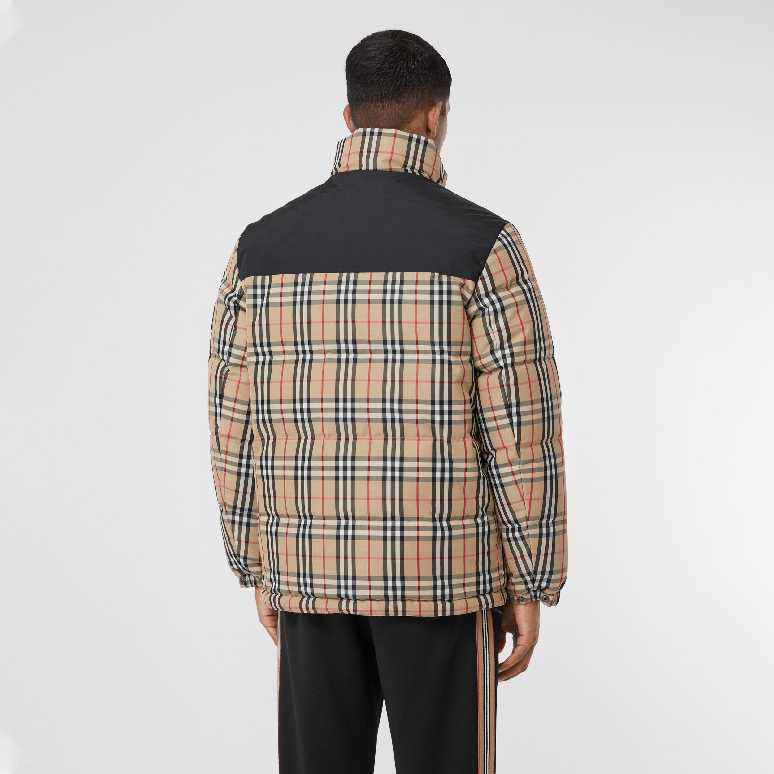 Reversible Vintage Check Recycled Polyester Jacket in Archive Beige - Men | Burberry - 3