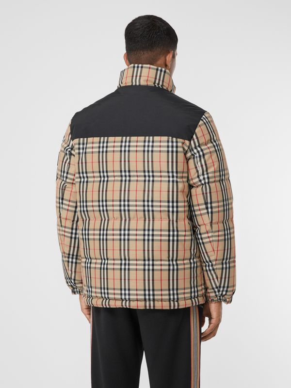 Reversible Vintage Check Recycled Polyester Jacket in Archive Beige - Men | Burberry - cell image 2