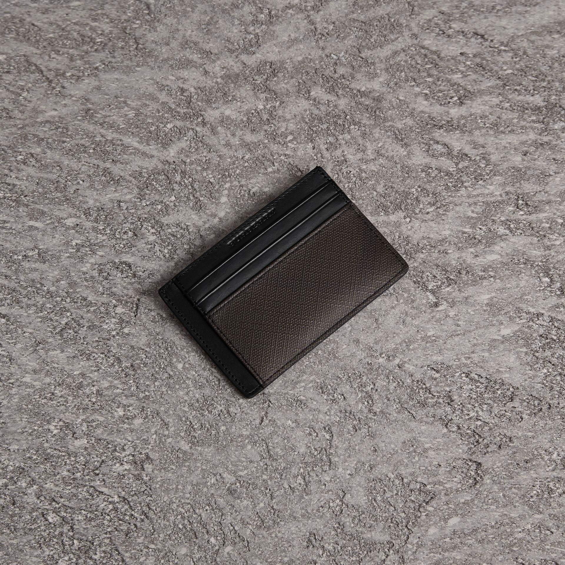 London Check Card Case in Chocolate/black | Burberry - gallery image 0