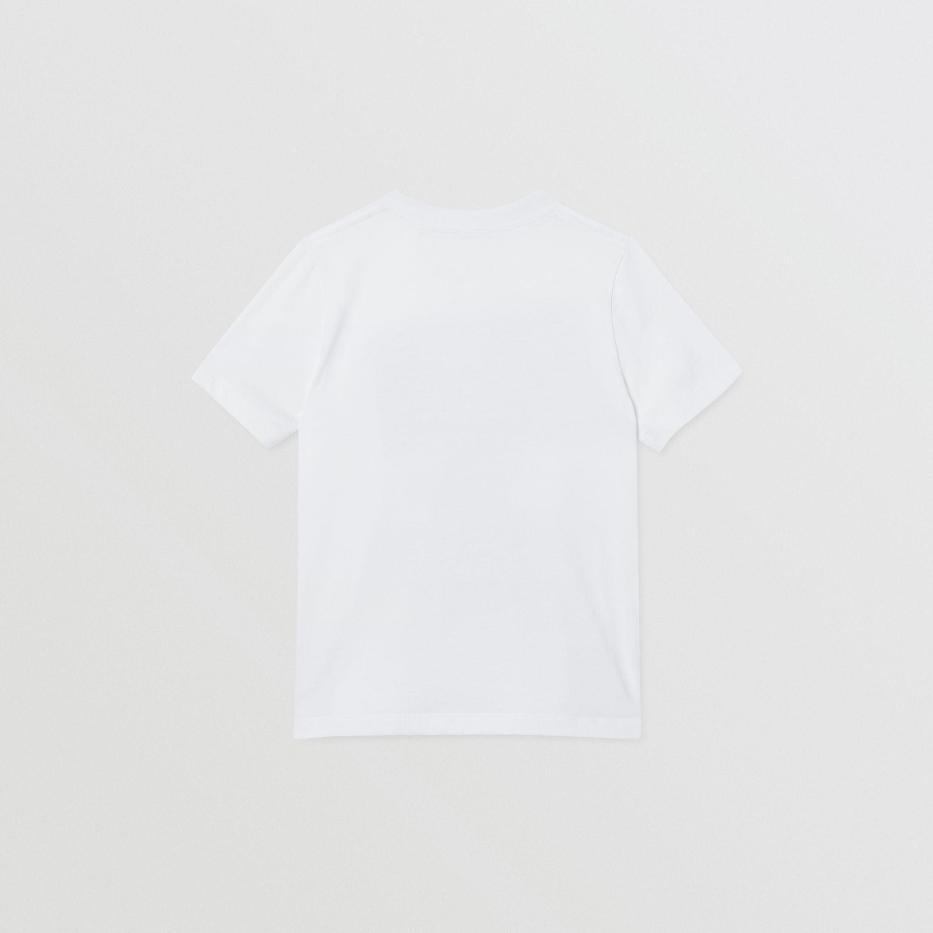 Collage Print Cotton T-shirt in White | Burberry - gallery image 4