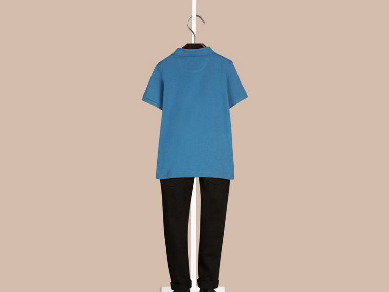 Lupin blue Check Placket Polo Shirt Lupin Blue - cell image 1