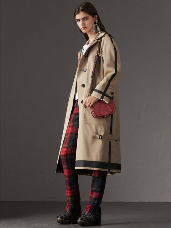 The Satchel in pelle di lucertola (Rosa Azalea) - Donna | Burberry - cell image 2