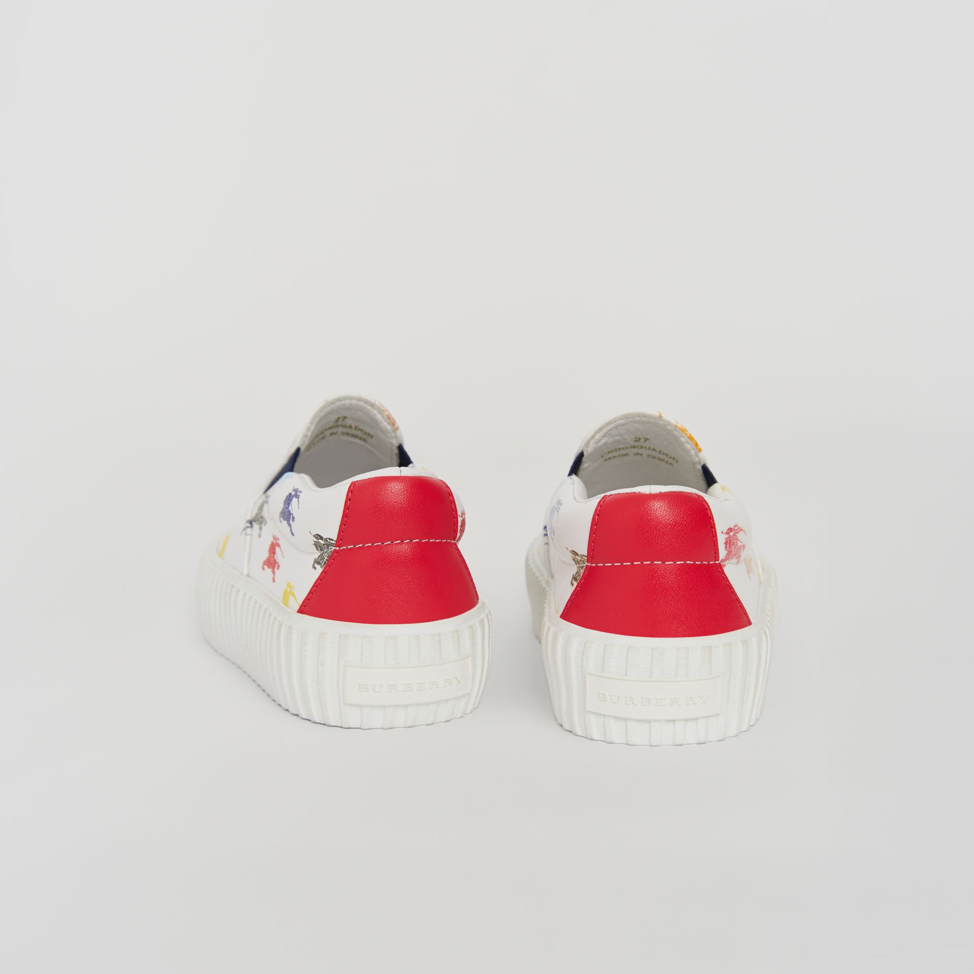 EKD Leather Slip-on Sneakers in Optic White - Children | Burberry United Kingdom - gallery image 1