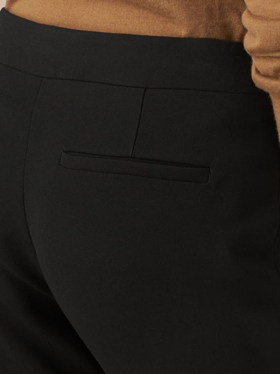 Black Slim Fit Faille Trousers - cell image 3
