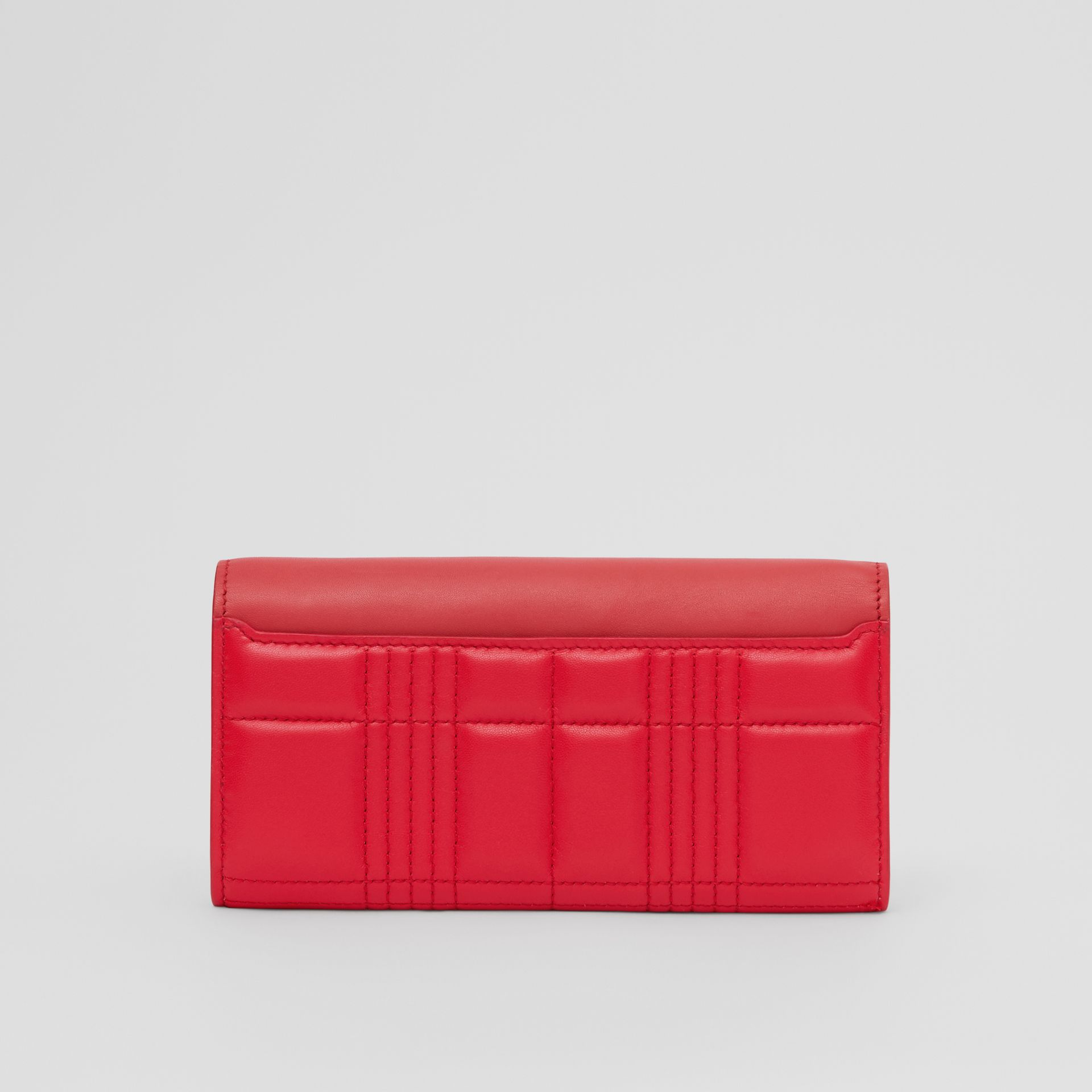 Monogram Motif Quilted Continental Wallet in Bright Red - Women | Burberry - gallery image 4