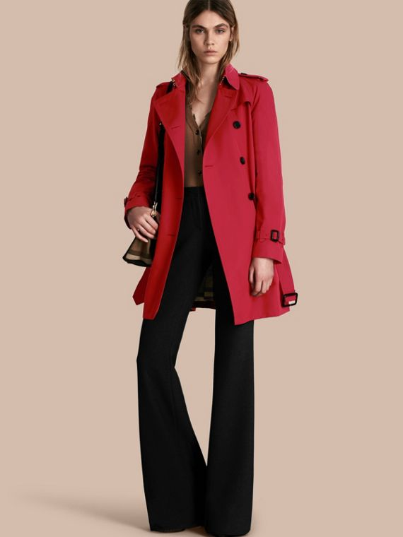The Westminster – Mid-Length Heritage Trench Coat Parade Red