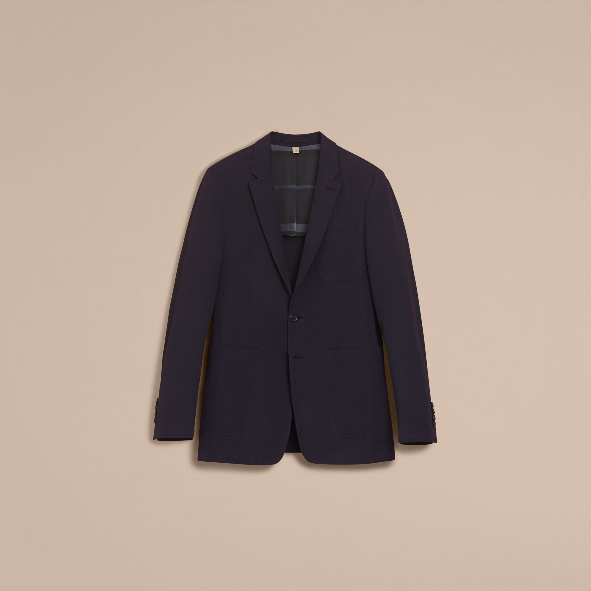 Stretch Cotton Seersucker Blazer - Men | Burberry - gallery image 4