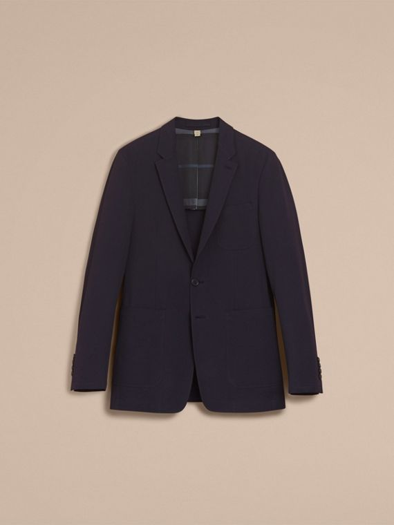 Stretch Cotton Seersucker Blazer - Men | Burberry - cell image 3