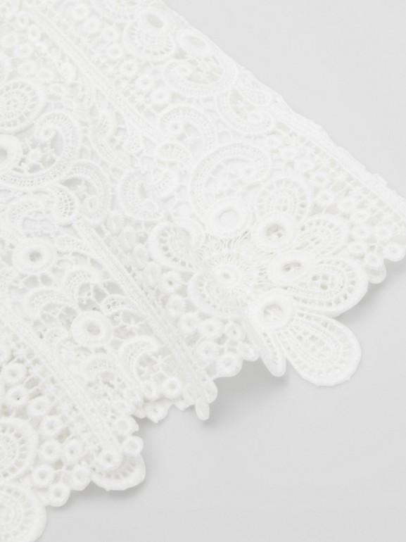 プリーツ マクラメレース スカート (ホワイト) | バーバリー - cell image 1