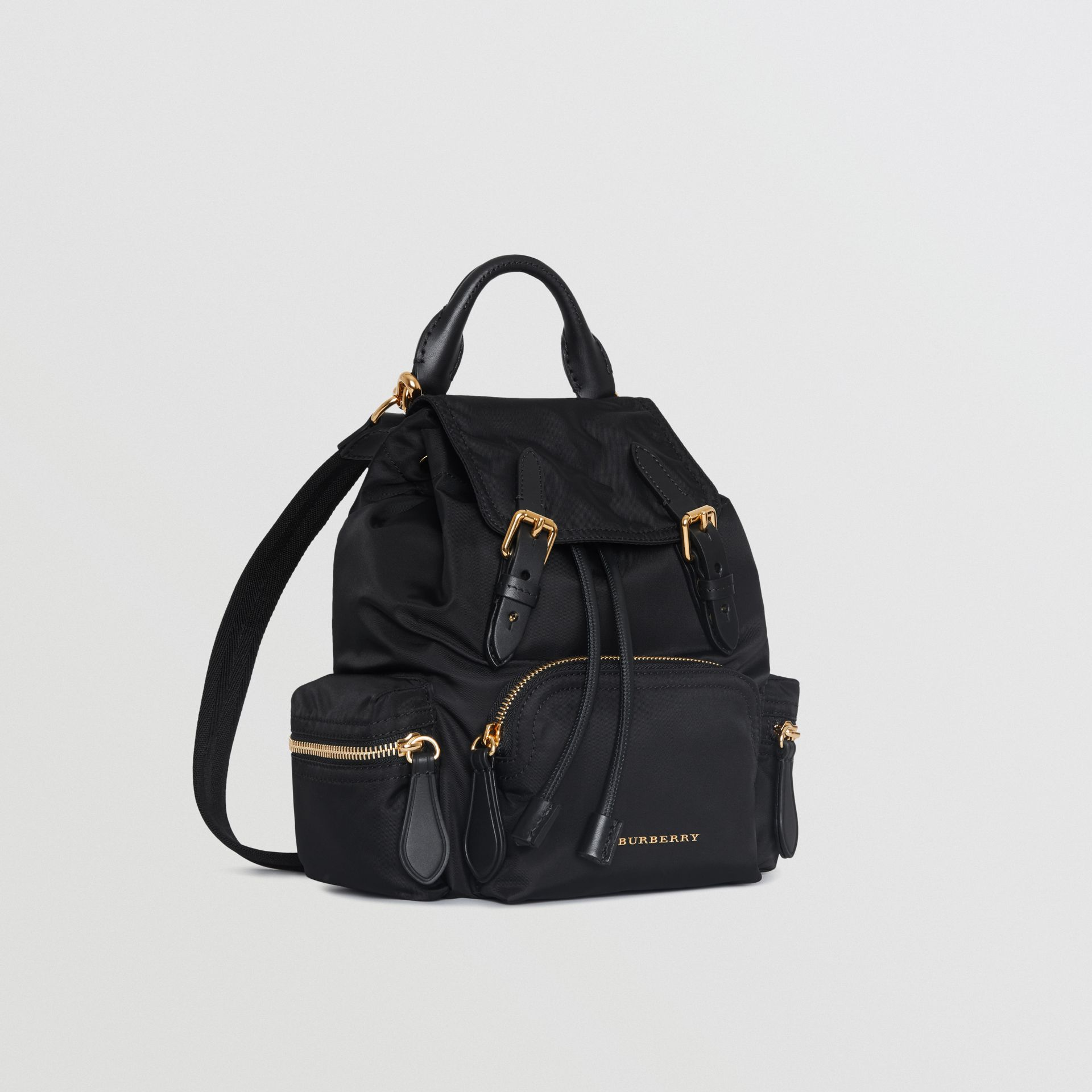 The Small Crossbody Rucksack in Nylon in Black - Women | Burberry United Kingdom - gallery image 7