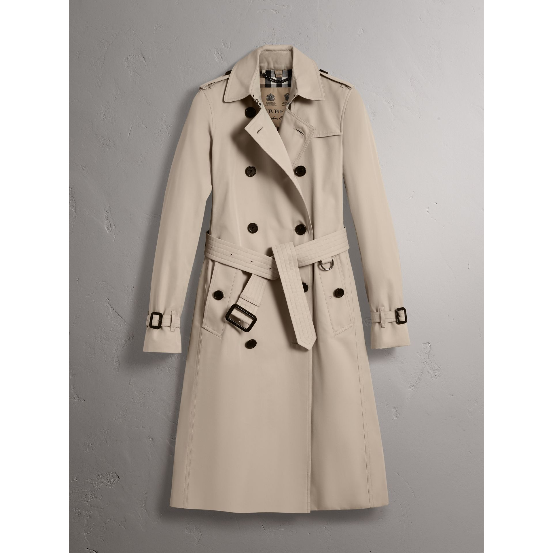 The Kensington – Trench extra-long (Stone) - Femme | Burberry - photo de la galerie 4
