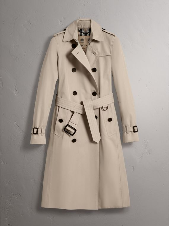 The Kensington – Extra-long Heritage Trench Coat in Stone - Women | Burberry - cell image 3