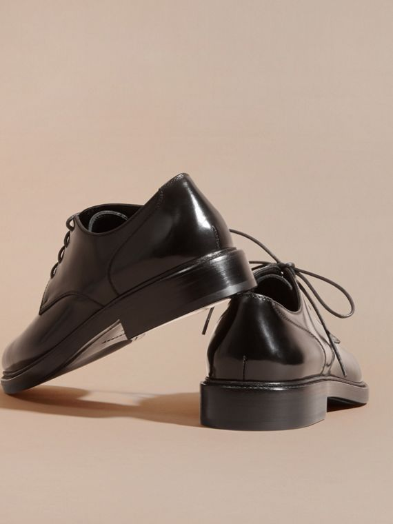 Black Leather Derby Shoes Black - cell image 3