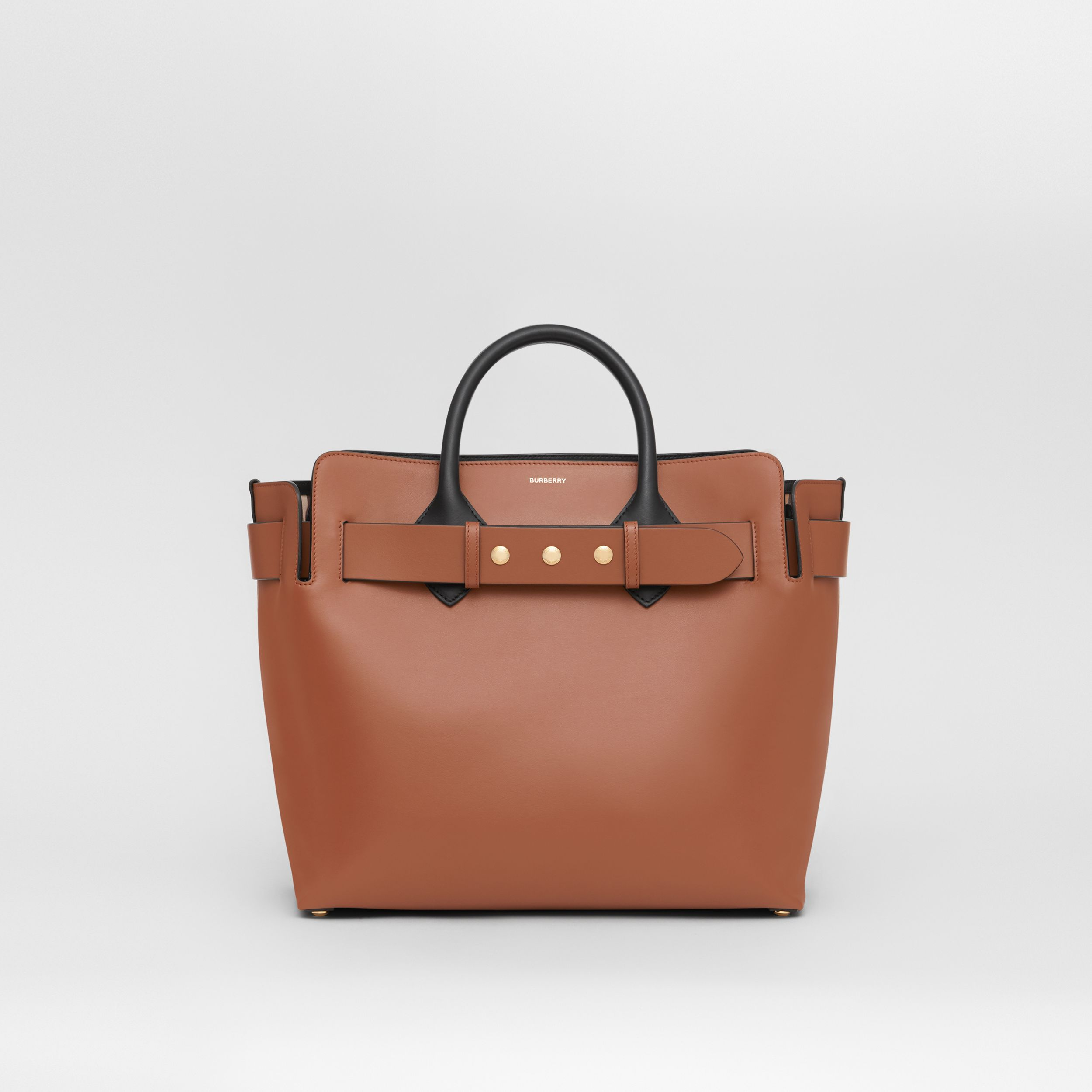 The Medium Leather Triple Stud Belt Bag in Malt Brown - Women | Burberry - 1