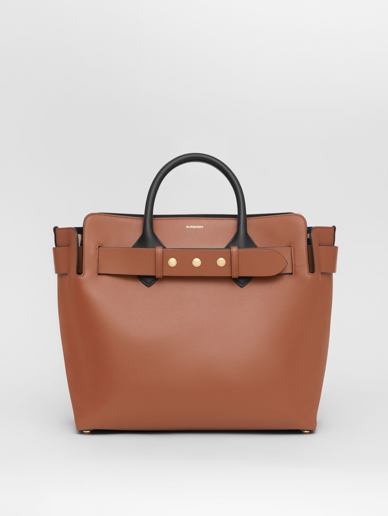 The Medium Leather Triple Stud Belt Bag in Malt Brown
