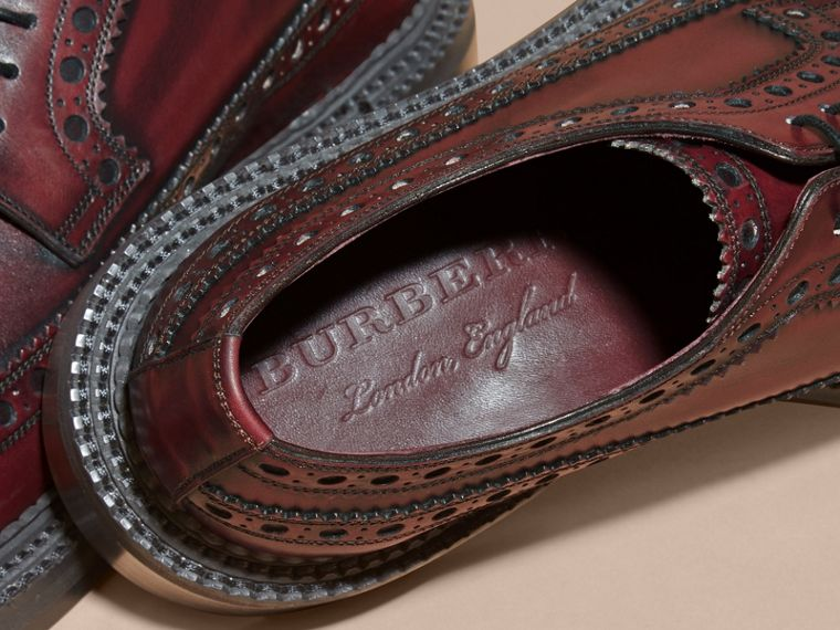Bordeaux Leather Derby Brogues - cell image 1
