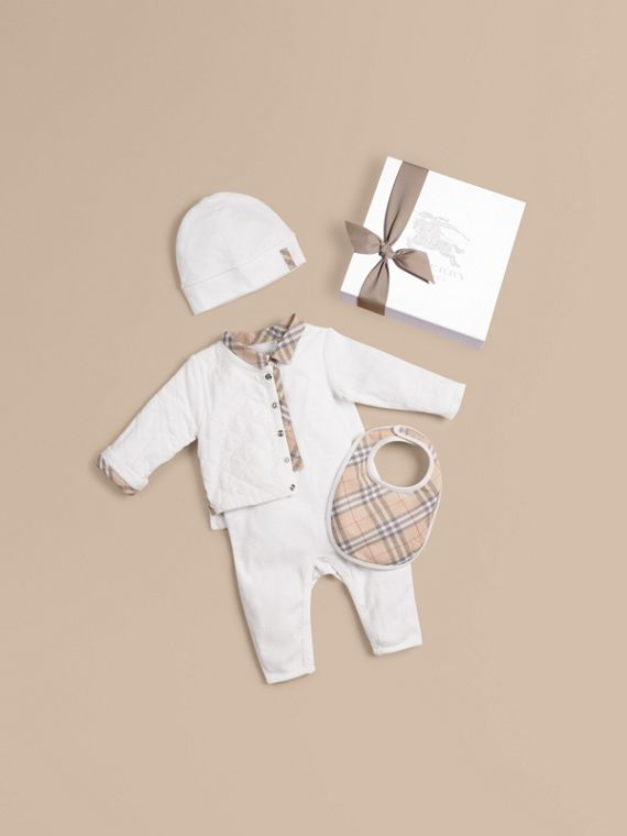 Cotton Four-piece Baby Gift Set - Boy | Burberry Singapore
