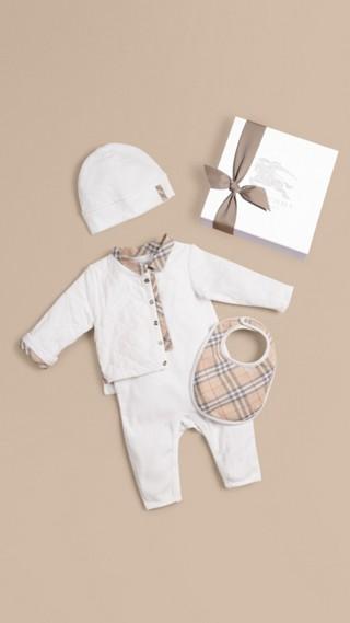 Set cadeau pour bébé en coton composé de quatre pièces