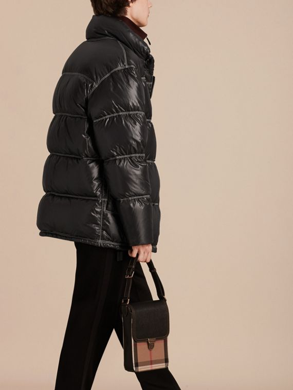 Black Down-filled Puffer Coat - cell image 2