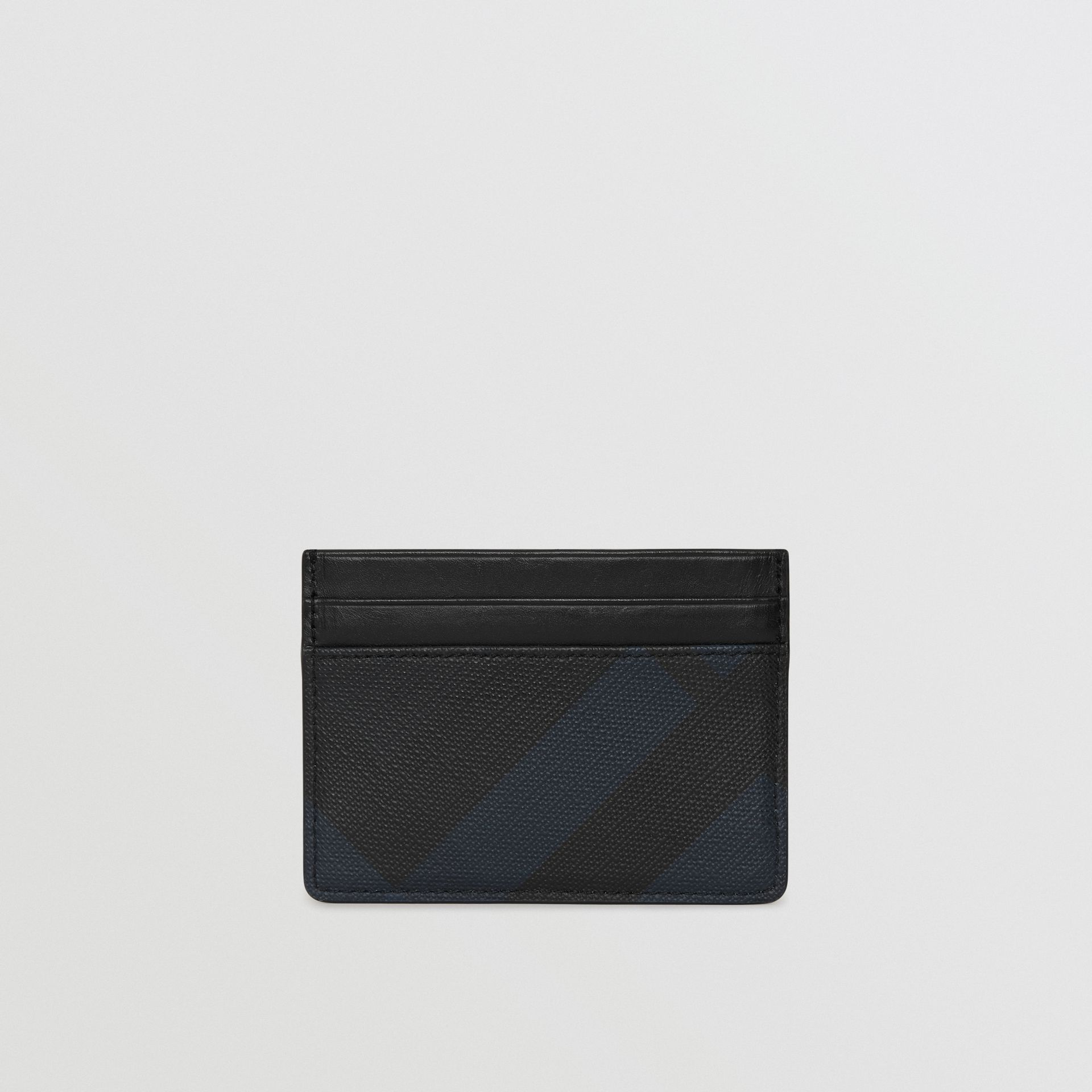 London Check Card Case in Navy/black | Burberry - gallery image 2
