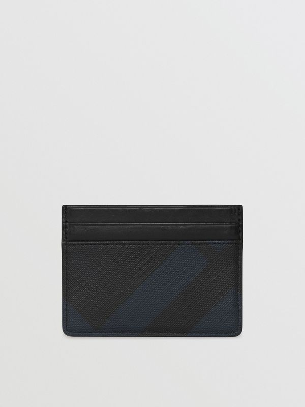 London Check Card Case in Navy/black | Burberry - cell image 2