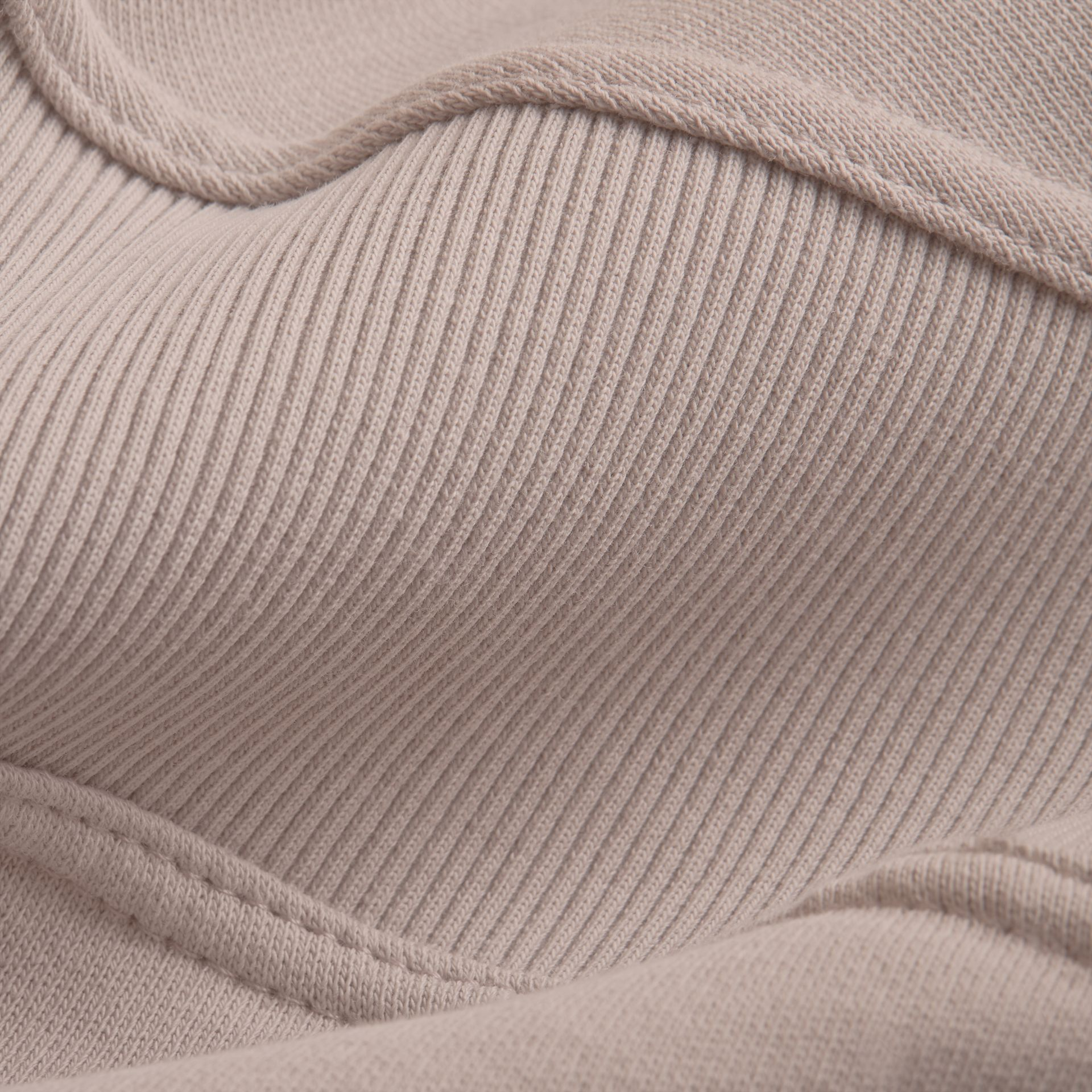 Puffed-sleeve Cotton Panelled Sweatshirt in Pale Mauve - Women | Burberry - gallery image 1