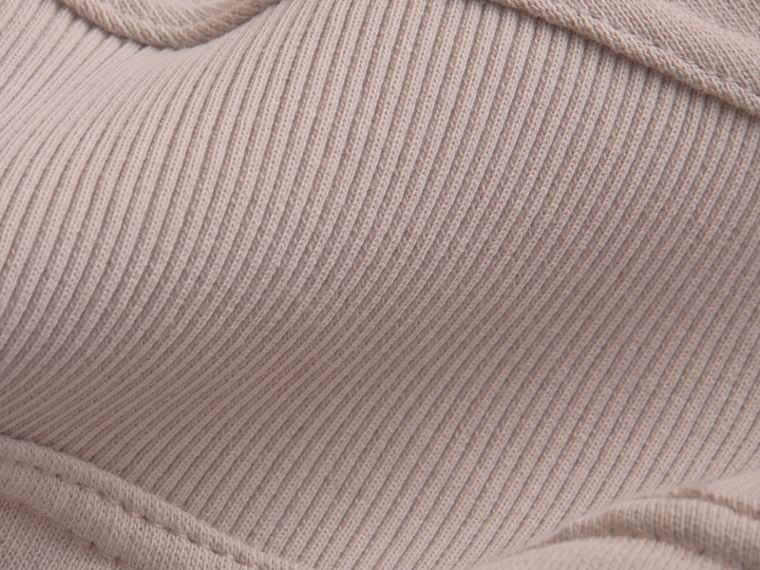 Puffed-sleeve Cotton Panelled Sweatshirt in Pale Mauve - Women | Burberry - cell image 1