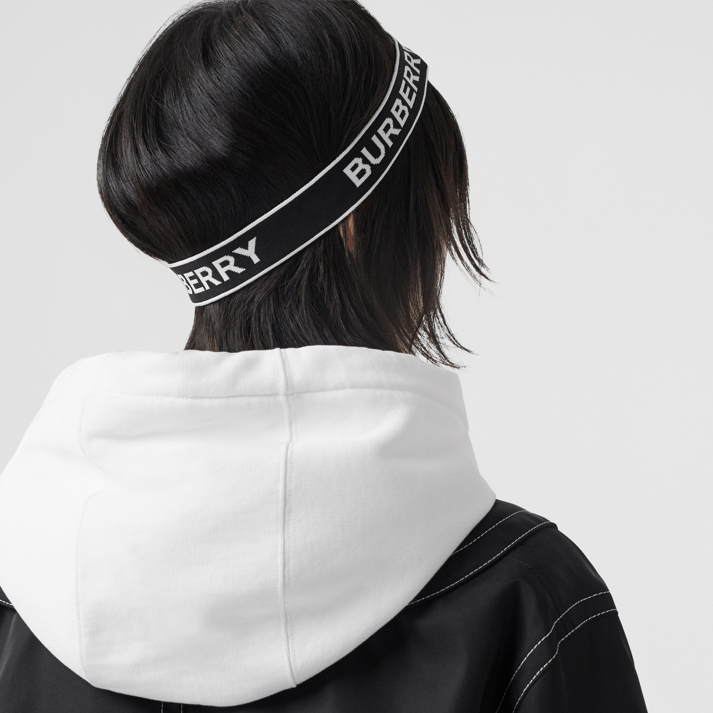 Logo Jacquard Headband in Black | Burberry - 3